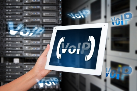 VoIP system in data center room photo