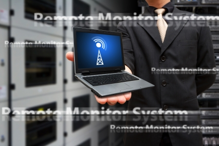 remote communication: Remote monitor system from laptop