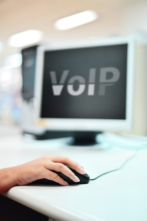 VOIP on monitor photo