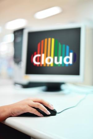 Cloud computing on monitor photo