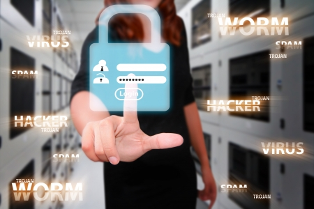 Programmer in server room and security password