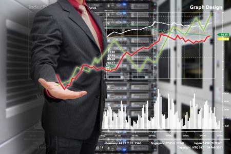 graph report in data center room Stock Photo - 17519485