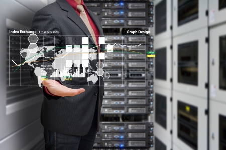 Data report in data center room