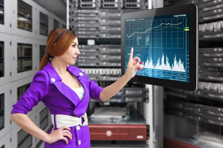 graph report in data center room