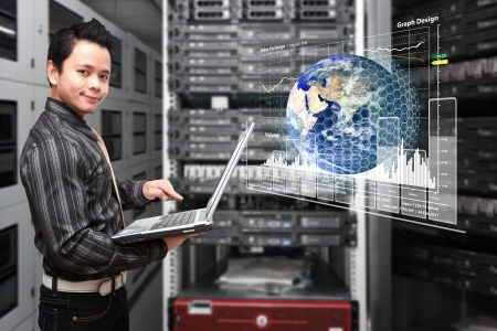 graph report in data center room Stock Photo - 17539751
