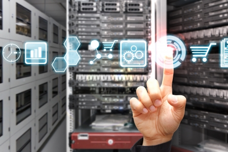 Icon control in data center room Stock Photo - 17518392