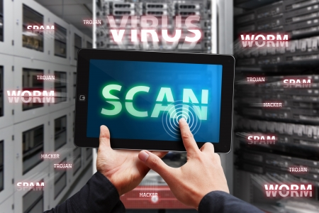 ber: Scan virus Stock Photo