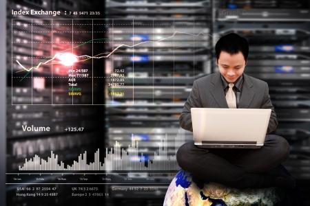 monitoring system: Programmer in data center room