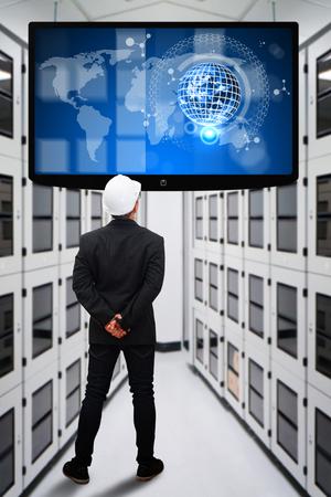 Engineering in data center room photo