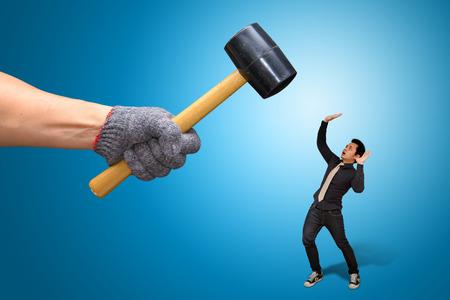 Hammer smash Stock Photo