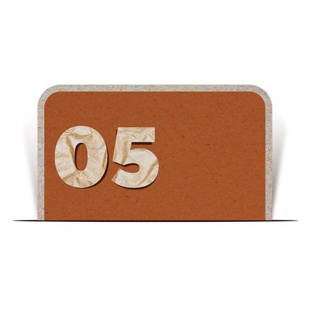 number zero: Paper number  zero five