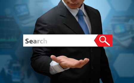 Search icon concept and business man