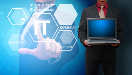 Networking computing service concept Stock Photo