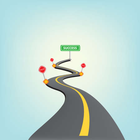 Road to success Vector