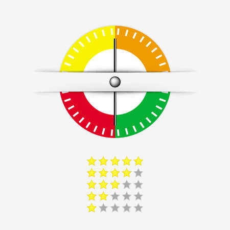 rating meter: Meter with stars rating