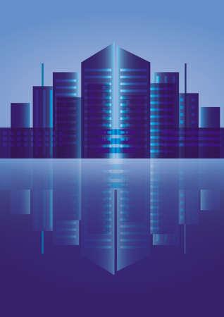 City buildings skyline Vector