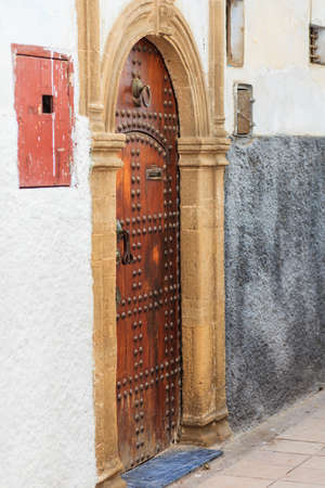 Typical Moroccan style main entrance from the street Editorial