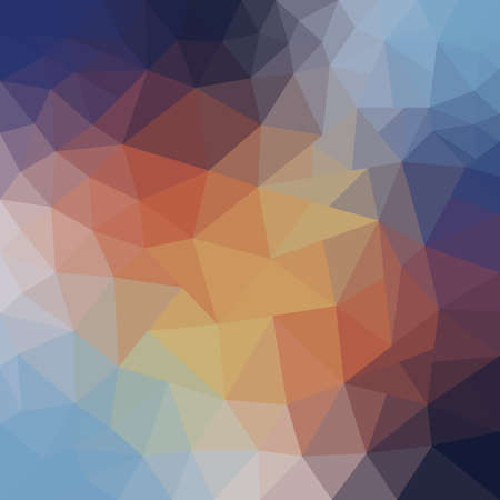 abstract background of blue and beige triangles. autumn colors Ilustração