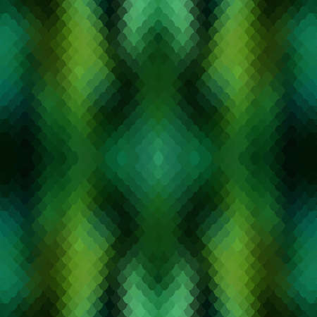 Seamless pattern of small colorful green fish scales forming a pattern of reptile and similar snake skin. Ilustrace