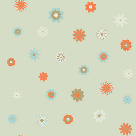 Cute Floral pattern in the small flower. Ditsy print . Seamless vector texture. Elegant template for fashion prints. Printing with very small colorful flowers. light background