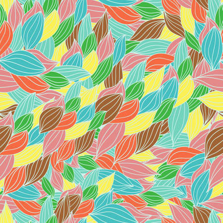 Vector pattern abstract seamless background with colorful ornament. Hand draw illustration, coloring book