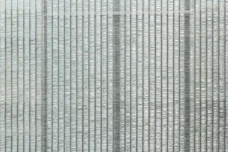 to shading: Greenhouse shading net grey color Stock Photo