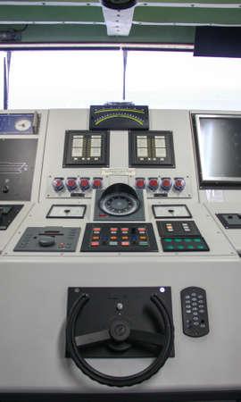 船キャプテン コントロール ルーム 写真素材