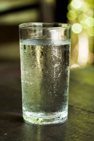 cold: Cold water in glass