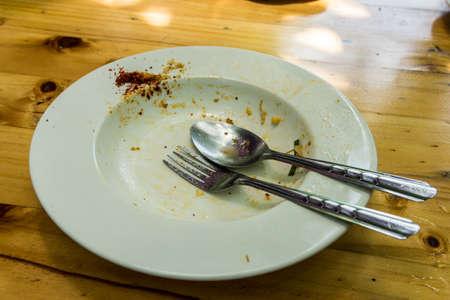 dirty: Dirty dish Stock Photo