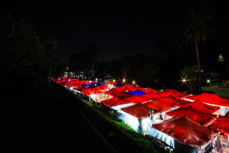 night market: Night market at Luang Pra Bang, Laos