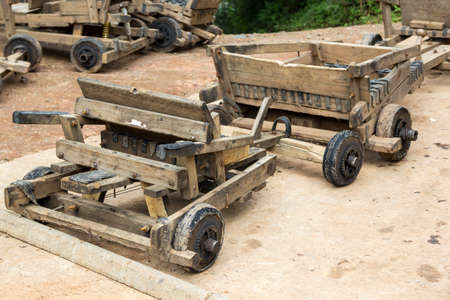kart: traditional wooden kart in chiang mai , thailand