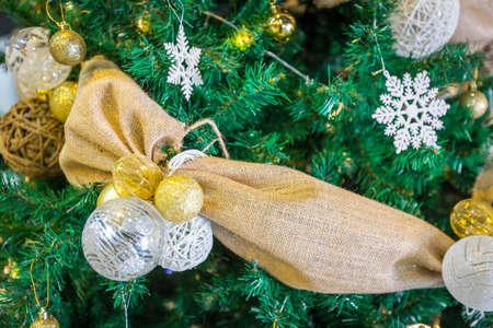 close up of christmas decoration on christmas tree