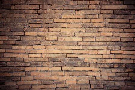 old brick wall texture in vitage tone 写真素材