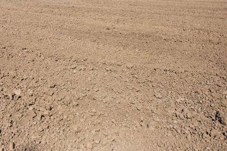 soil texture plowed field before sowing 写真素材