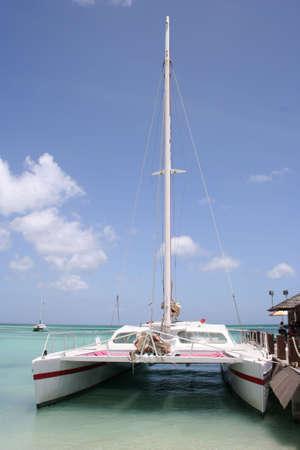 Sail Boat Aruba, Caribbean Stock Photo