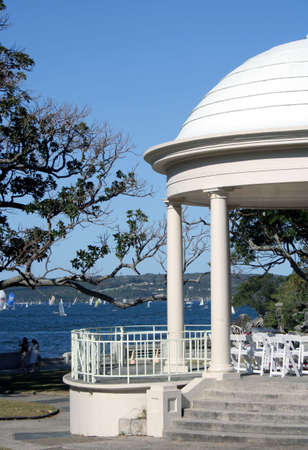 Balmoral Beach Rotunda, Sydney, Australia Stock Photo