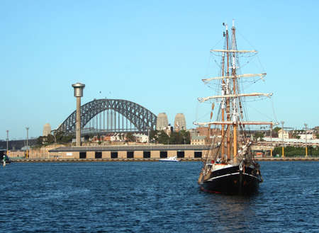 Sydney Harbour Bridge Sailing Ship, Australia
