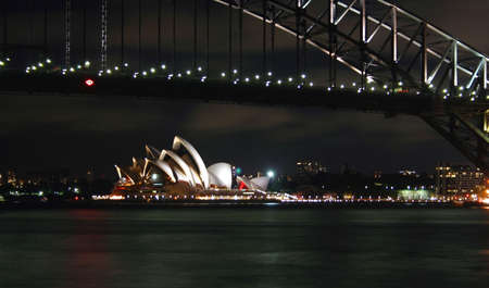 Sydney Harbour Bridge and skyline, Australia Stock Photo