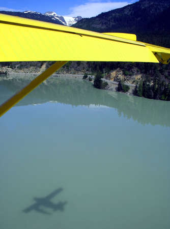 Seaplane landing on Green Lake, Canada