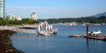 Seaplane in Vancouver Harbour, Canada Stock Photo
