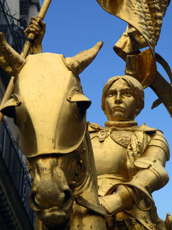 Detail of Statue Saint Joan of Arc, Paris, France