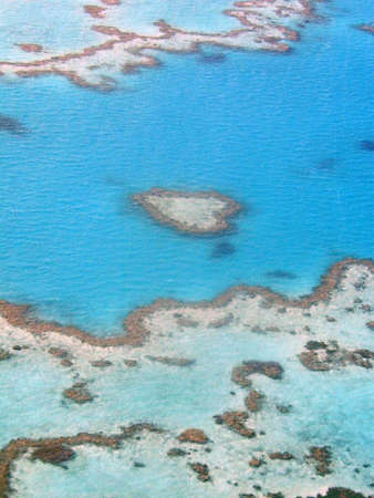 Heart Reef in the Great Barrier Reef, Australia