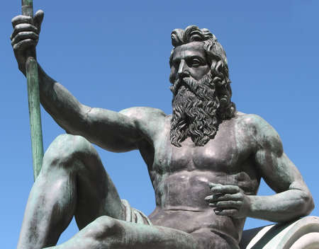 King Neptune and Trident     Stock Photo