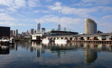 Docklands reclamation, Melbourne, Australia photo
