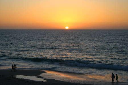 Sun setting over the beach, Western Australia