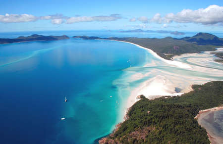 Aerial view of Whitehaven Beach, Australia