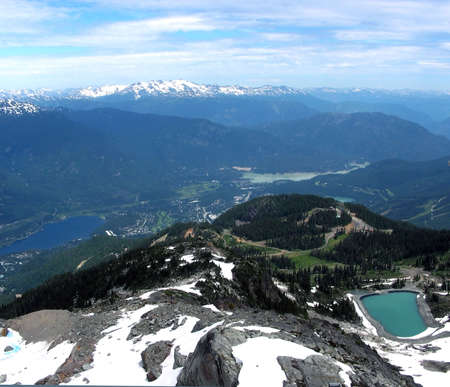 View from Mt Whistler, Canada         Stock Photo