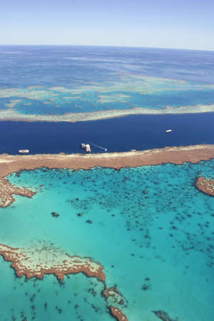 Eco-tourism at the Great Barrier Reef, Queensland, Australia.