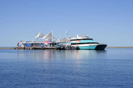 Pontoon at the Great Barrier Reef, Queensland, Australia Stock Photo - 5699996