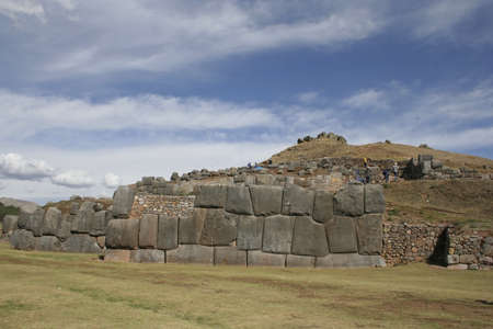 Saqsaywaman archaeological complex, north of Cuzco, Peru, South America